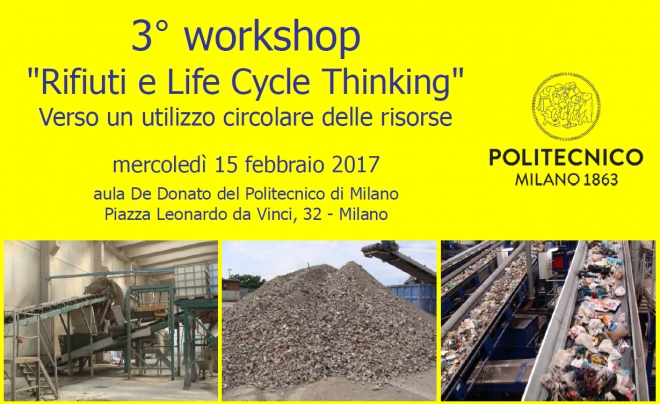 "CISA partecipa al 3° Workshop ""Rifiuti e Life Cycle Thinking"""